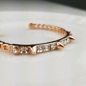 Henri Bendel Rose Gold spiked crystal bracelet
